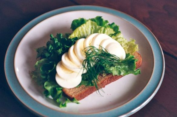 Smorrebrod with Anchovy Dill Butter